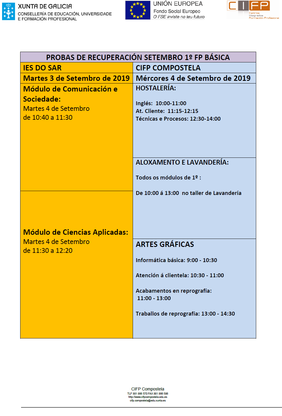 Calendario Escolar Xunta.Inicio Novas